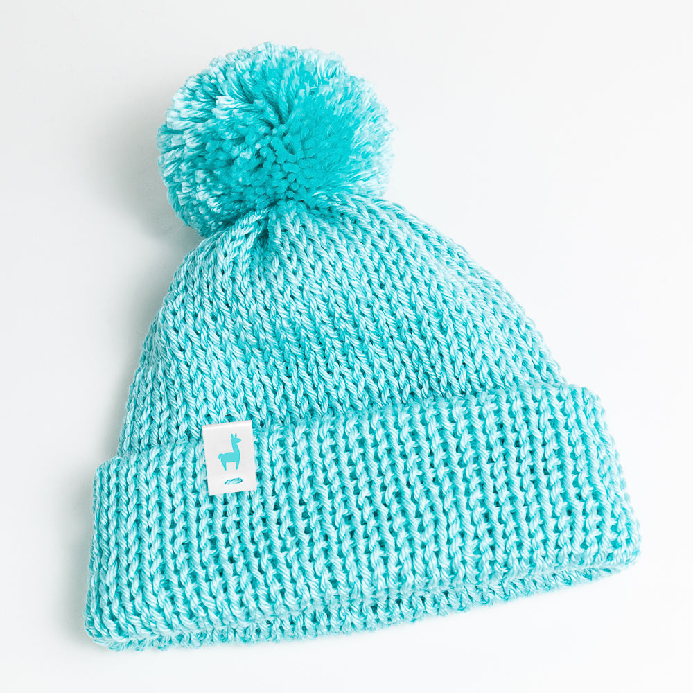 Turquoise Knit Beanie