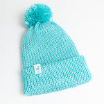 Load image into Gallery viewer, Turquoise Knit Beanie