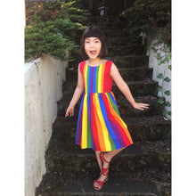 Load image into Gallery viewer, Ida dress- sleeveless primary rainbow- custom