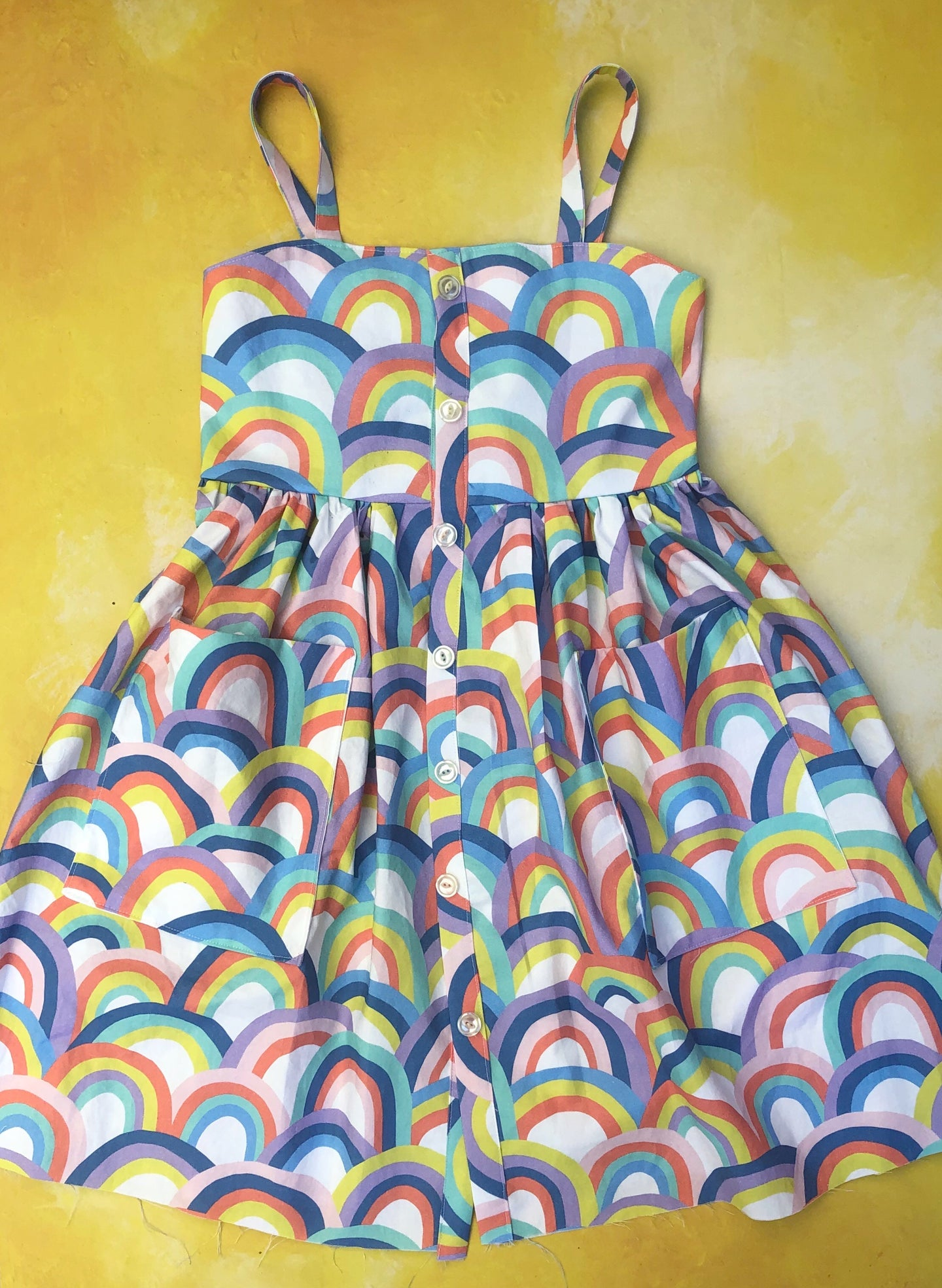 Ruby dress- rainbow arch- custom