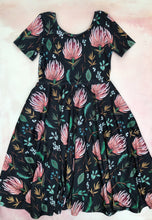 Load image into Gallery viewer, Greta twirl dress- protea- custom