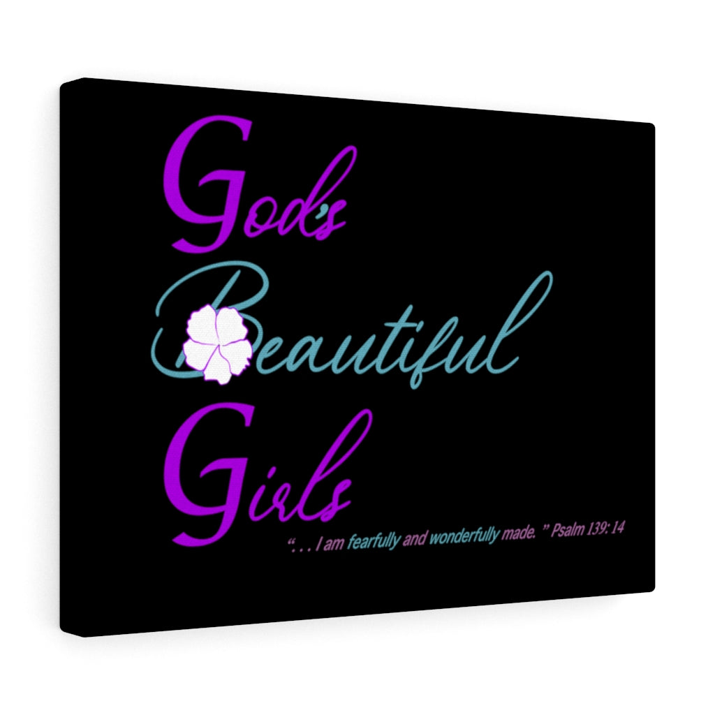God's Beautiful Girls Canvas Gallery Wraps