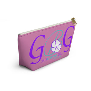 GBG Turquoise Pink Accessory Pouch w T-bottom