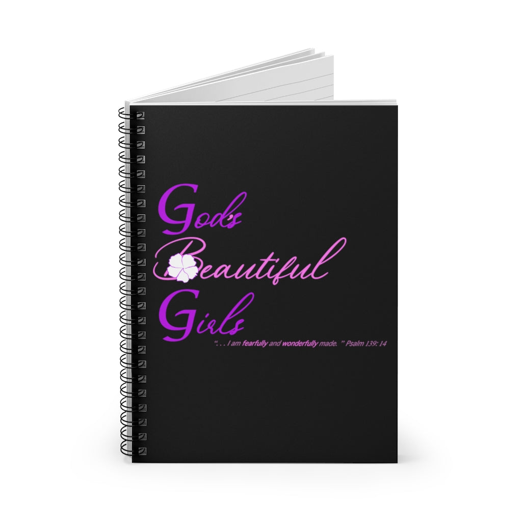 GBG Pink Black Spiral Notebook - Ruled Line