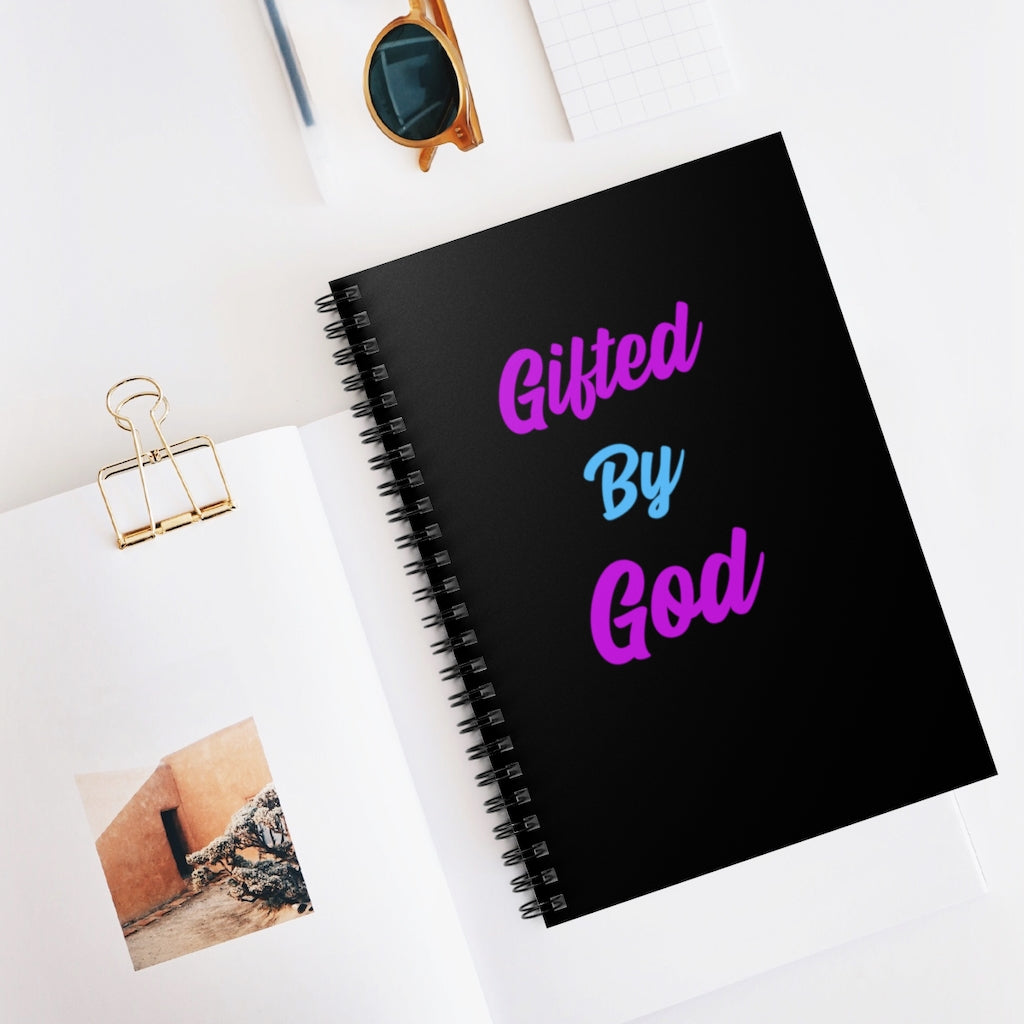 Gifted By God Women Spiral Notebook - Ruled Line