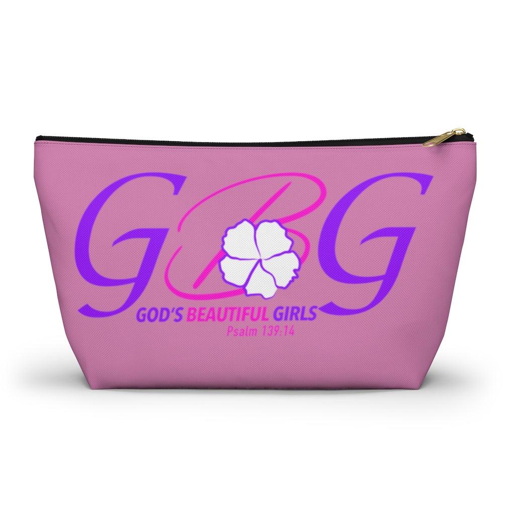 God's Beautiful Girls pink Accessory Pouch w T-bottom