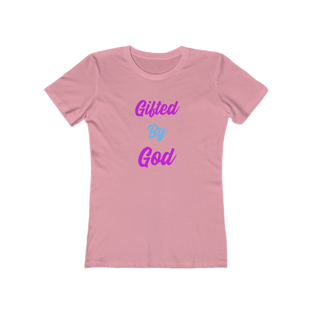 Gifted By God Turquoise logo Women's Fitted Tee