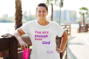 You Are Enough Pink Women's The Boyfriend Tee