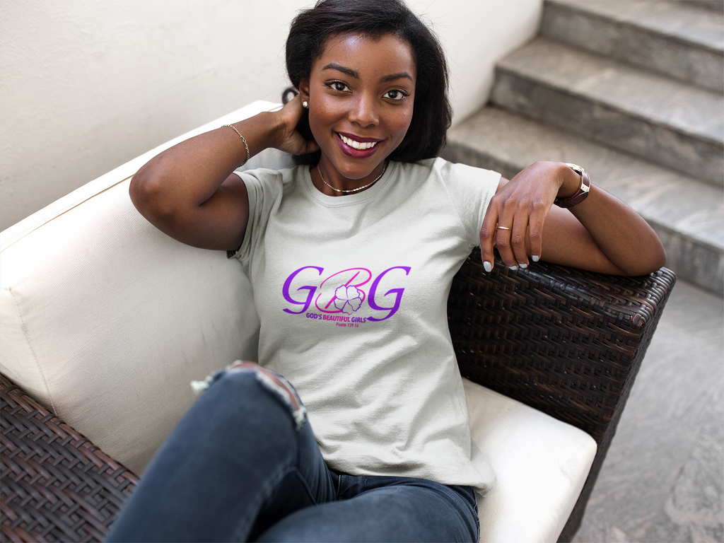 GBG Pink logo Women's Fitted Tee