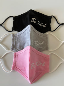 Comfort 2 Layer with Be Kind Print Kids - Face Mask