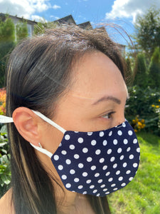 Polka Dot 2 Layer Ultra Light Women's - Face Mask