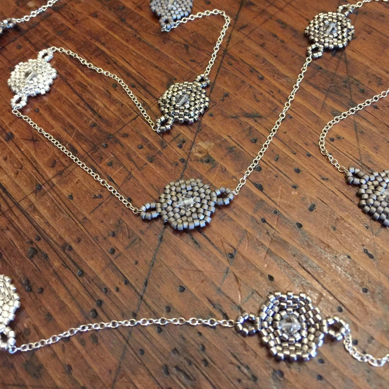 Hexagon Station Necklace