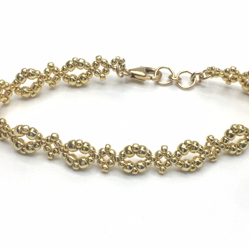 Gold Diamond Design Bracelet