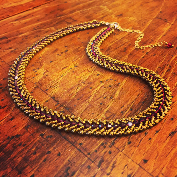 Spiral Necklace - Two Tone
