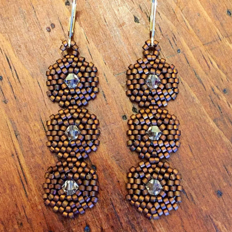 Hexagon 3 Drop Earrings