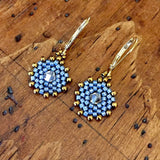 Dainty Disk 1 Drop Earrings