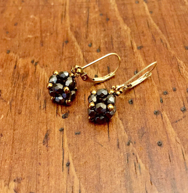 Czech Glass Cube Earrings