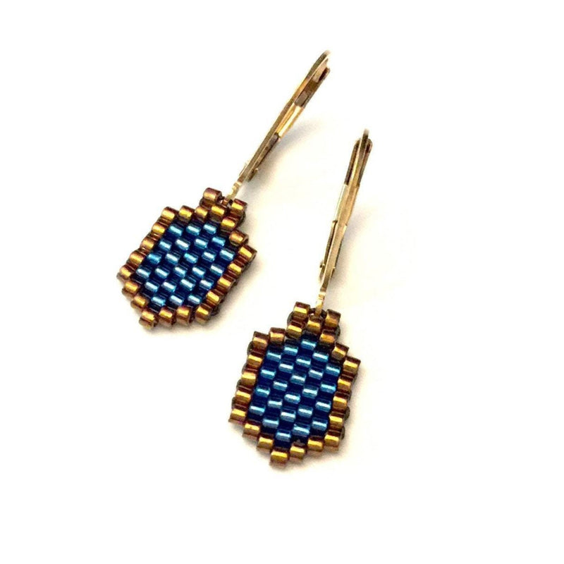 Beaded Dreidel Earrings