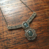 Labradorite double pendant necklace - OOAK