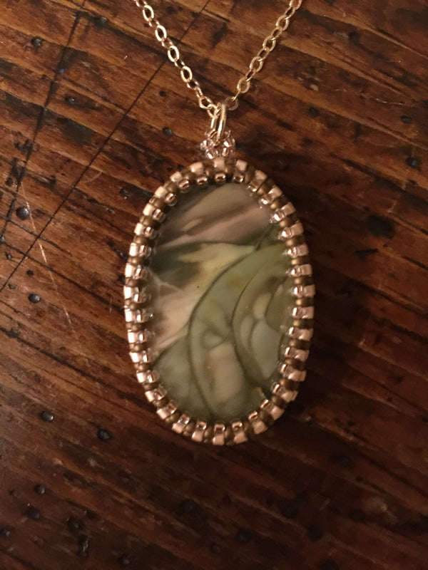 New! Picture Jasper  Pendant Necklace - OOAK