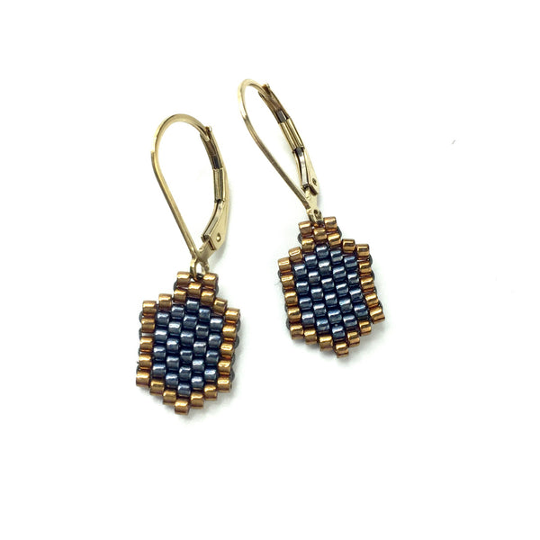 Delica Hexagon Earrings