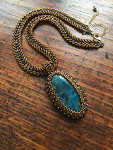Apatite Statement Necklace - OOAK