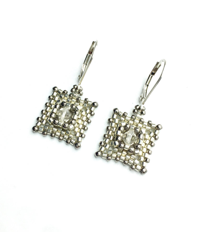 Two-Tone Deco Earrings