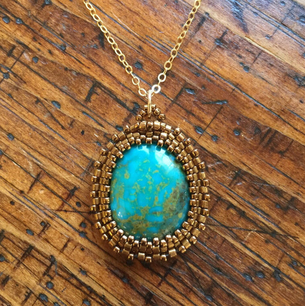 Turquoise Pendant Necklace - OOAK