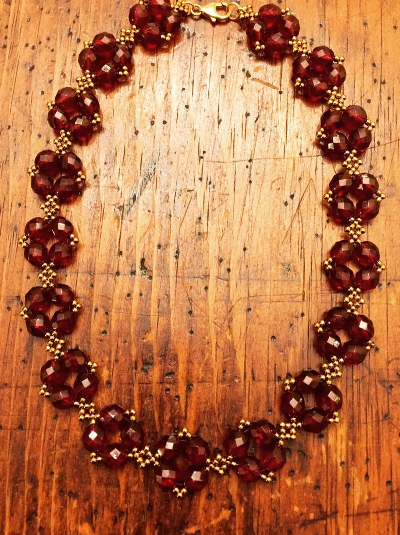 Czech Cluster Necklace
