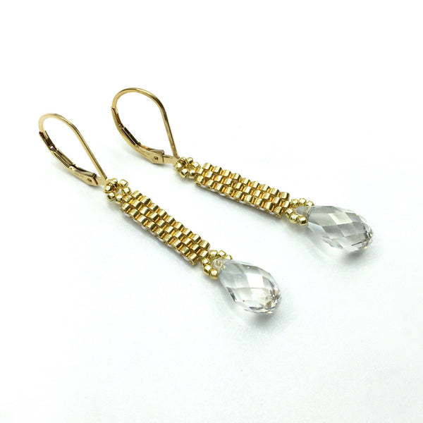 Crystal Column Earrings