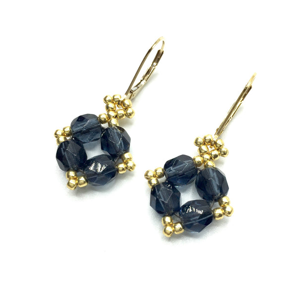 "Czech Glass ""Diamond"" Earrings"