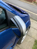 Wing mirror visors angled