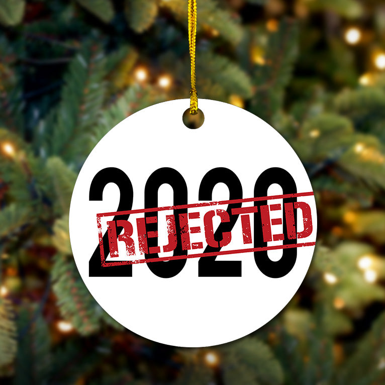 2020 Rejected Wooden Ornament