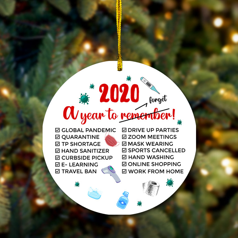 2020 A Year To Forget Wooden Ornament