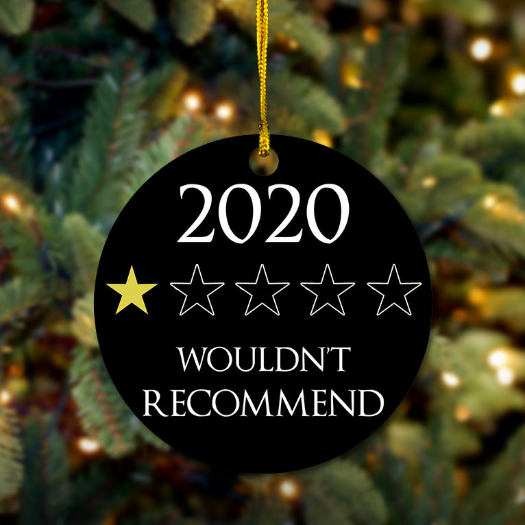 2020 One Star Review Wooden Ornament