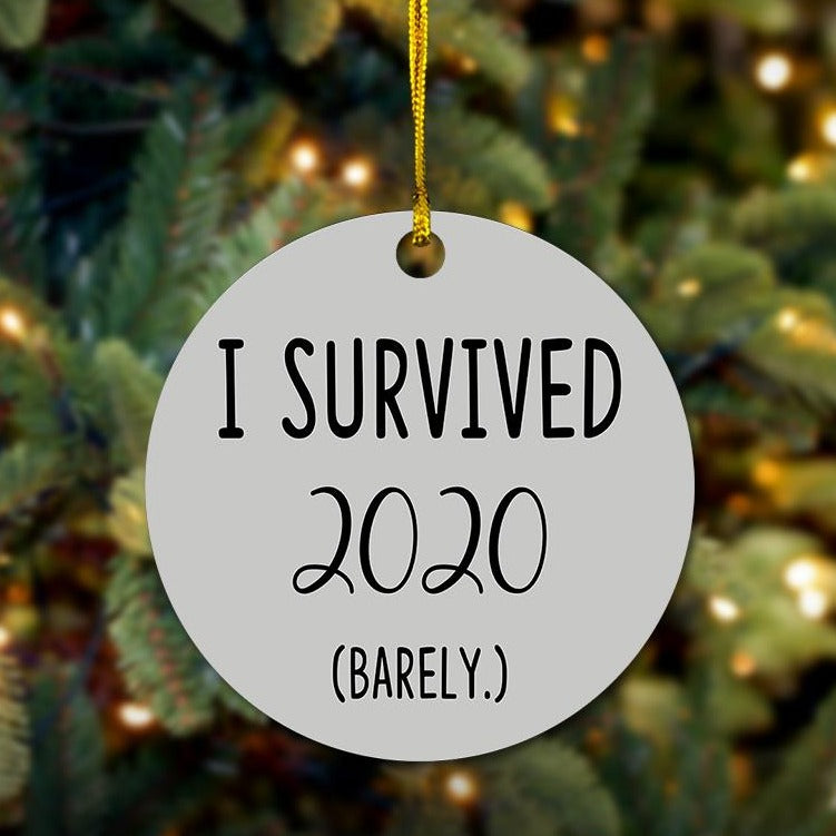 I Survived 2020 Wooden Ornament