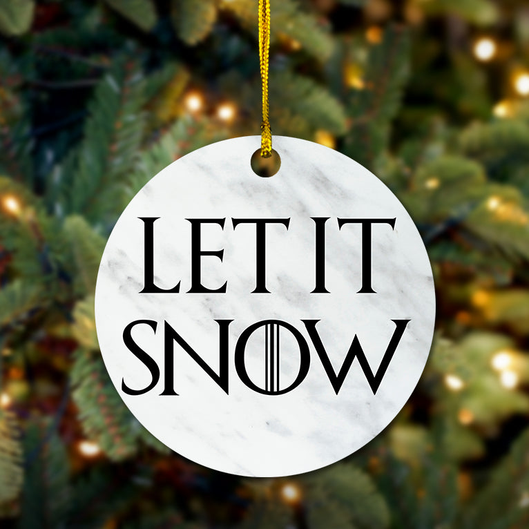 Let It Snow Wooden Ornament