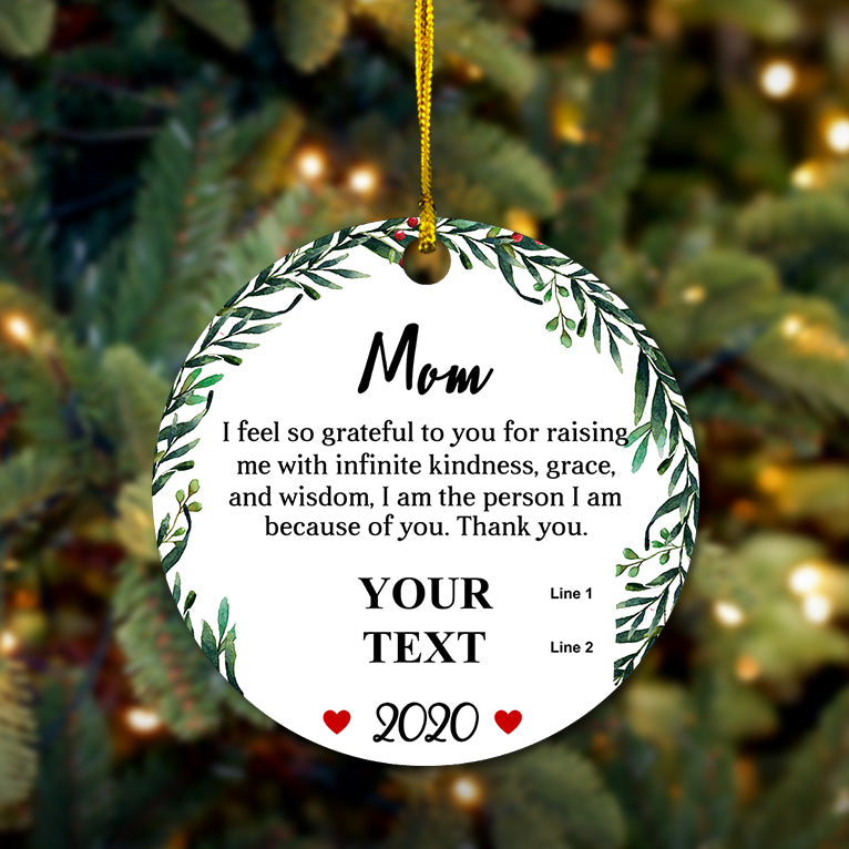 A Message To Mom Wooden Ornament