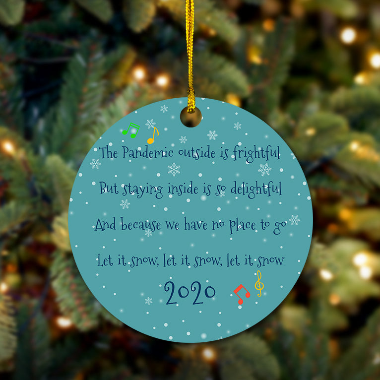 Pandemic Christmas Wooden Ornament