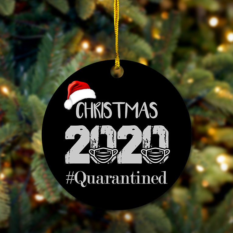 #Quarantined Wooden Ornament