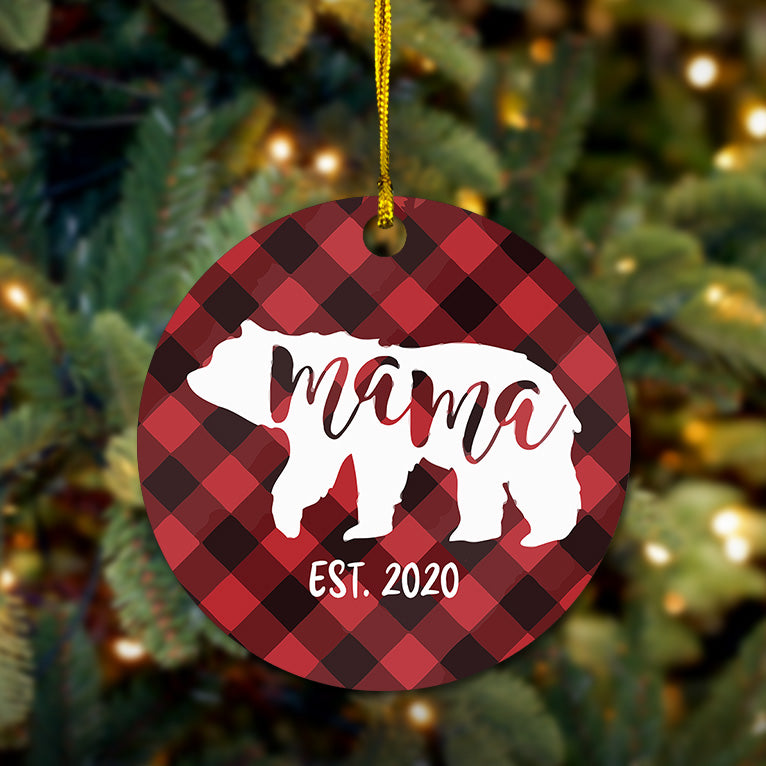 Mama Bear Wooden Ornament