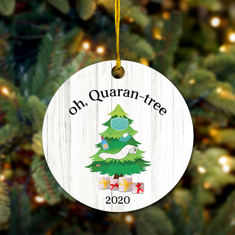 Quaran-tree Wooden Ornament