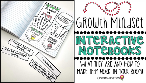 Growth Mindset Interactive Notebooks