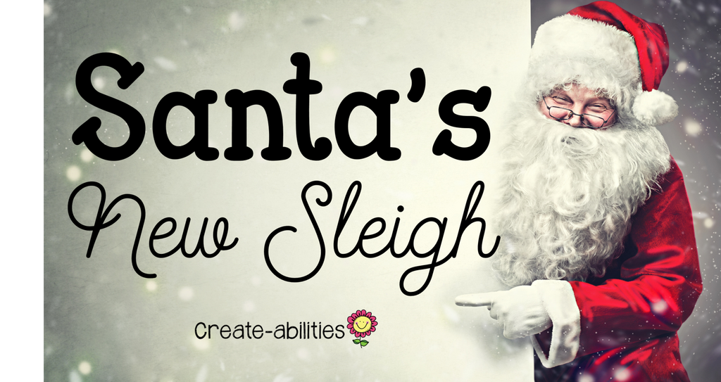 Santa's New Sleigh Art Project