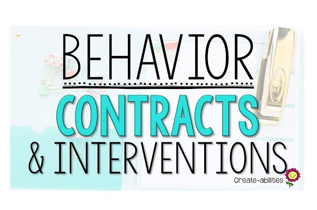 Behavior Contracts and Interventions