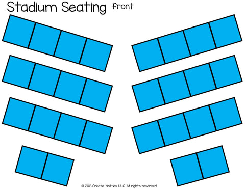 Stadium Seating Desk Arrangement