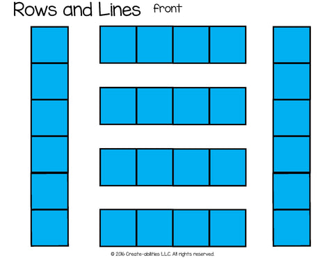 rows and lines desk arrangement