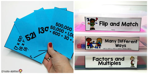 math center games and activities