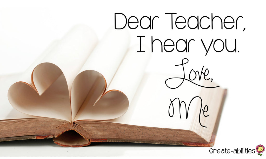 Dear Teacher I Hear You