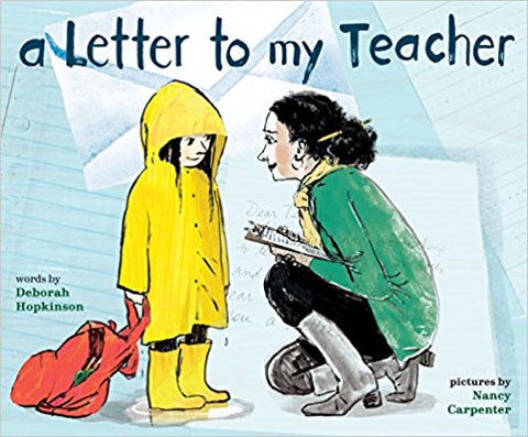 A Letter to My Teacher end of year picture book